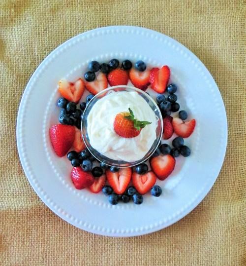Ricotta Fruit Dip 4th of July