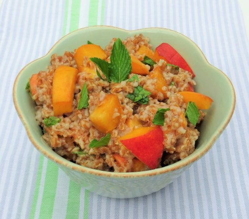 Peach and Mint Bulgur Salad