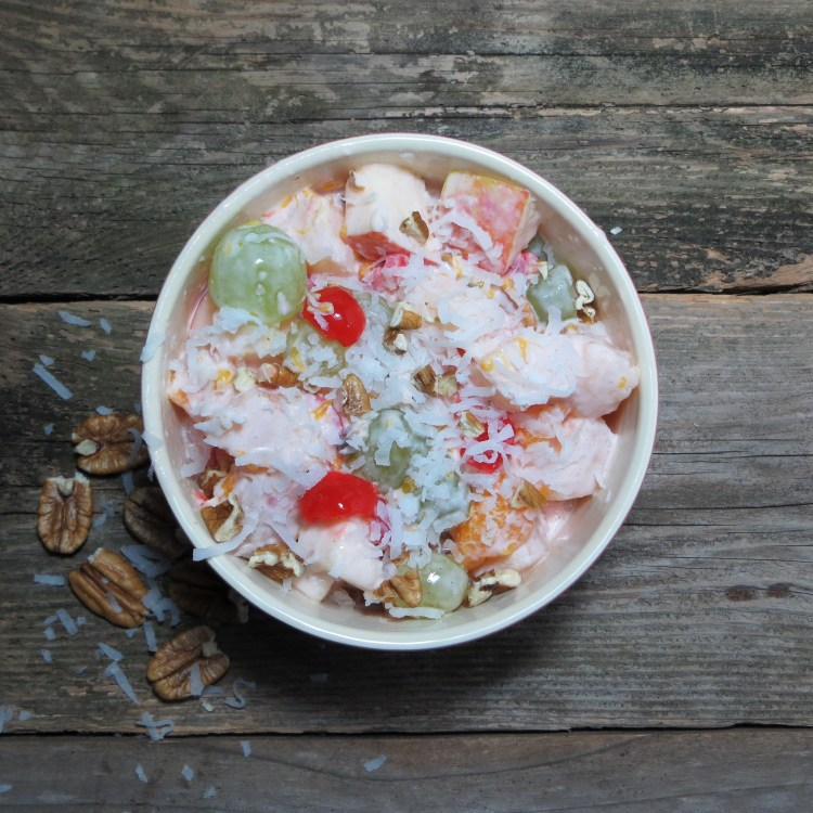 Lightened Ambrosia Salad featuring siggi's #Ad