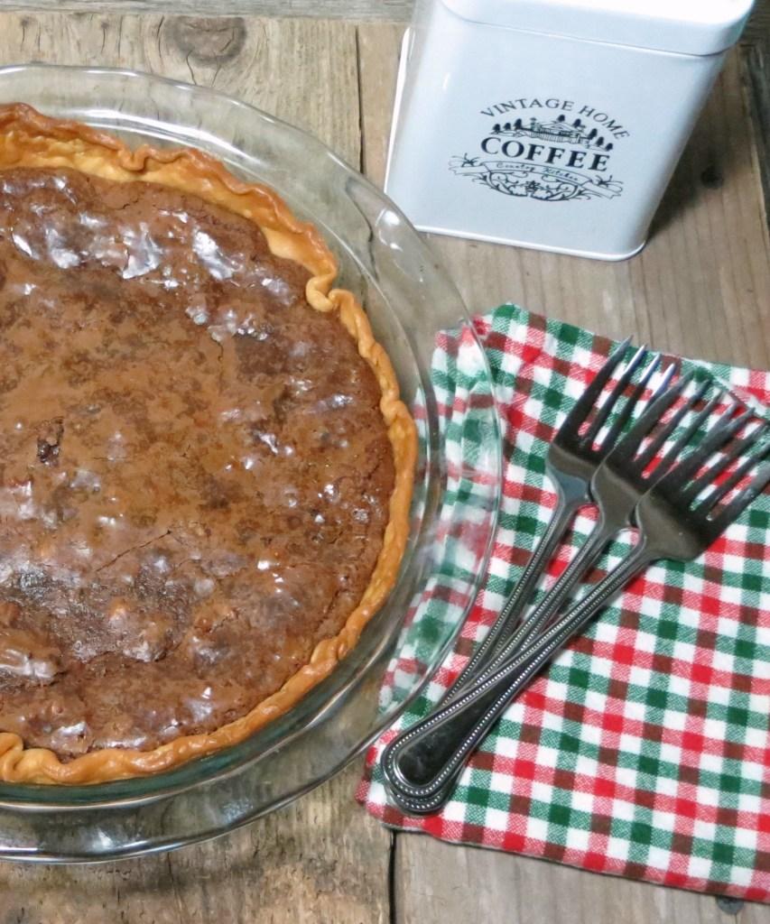 Ancho Chile Fudge Pie | My TX Kitchen