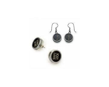 Custom Typewriter Key Earrings