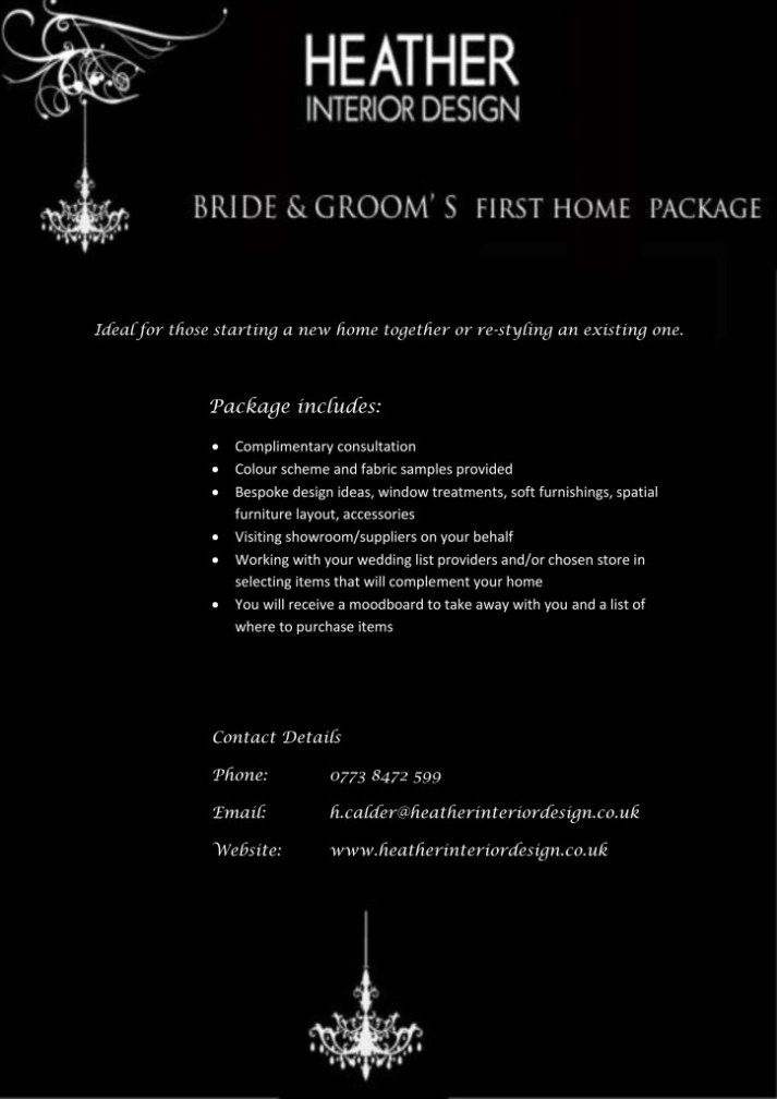 Bride & Groom's First Home Package