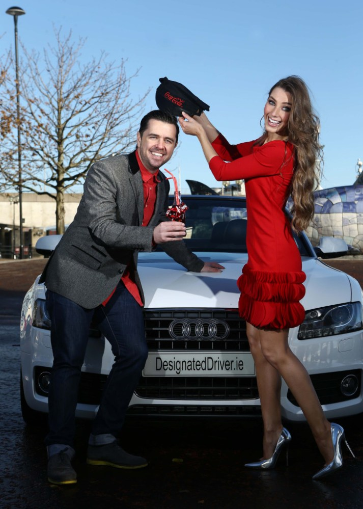 Model Katie Larmour and Cool FM DJ Pete Snodden. Photographer William Cherry presseye.com