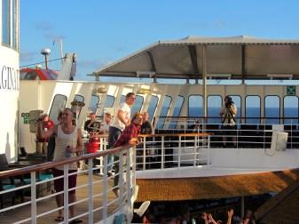 Matchbox Twenty and Goo Goo Dolls welcoming everyone aboard before we left Miami