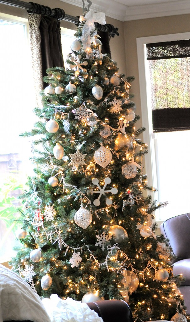 Silver And White Christmas Tree My Uncommon Slice Of