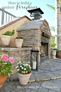 How to Build an Outdoor Stacked Stone Fireplace
