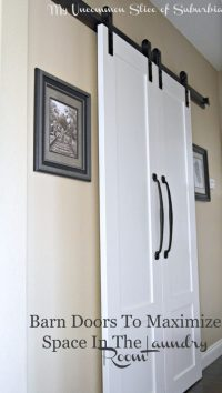 Barn Doors For The Laundry Room