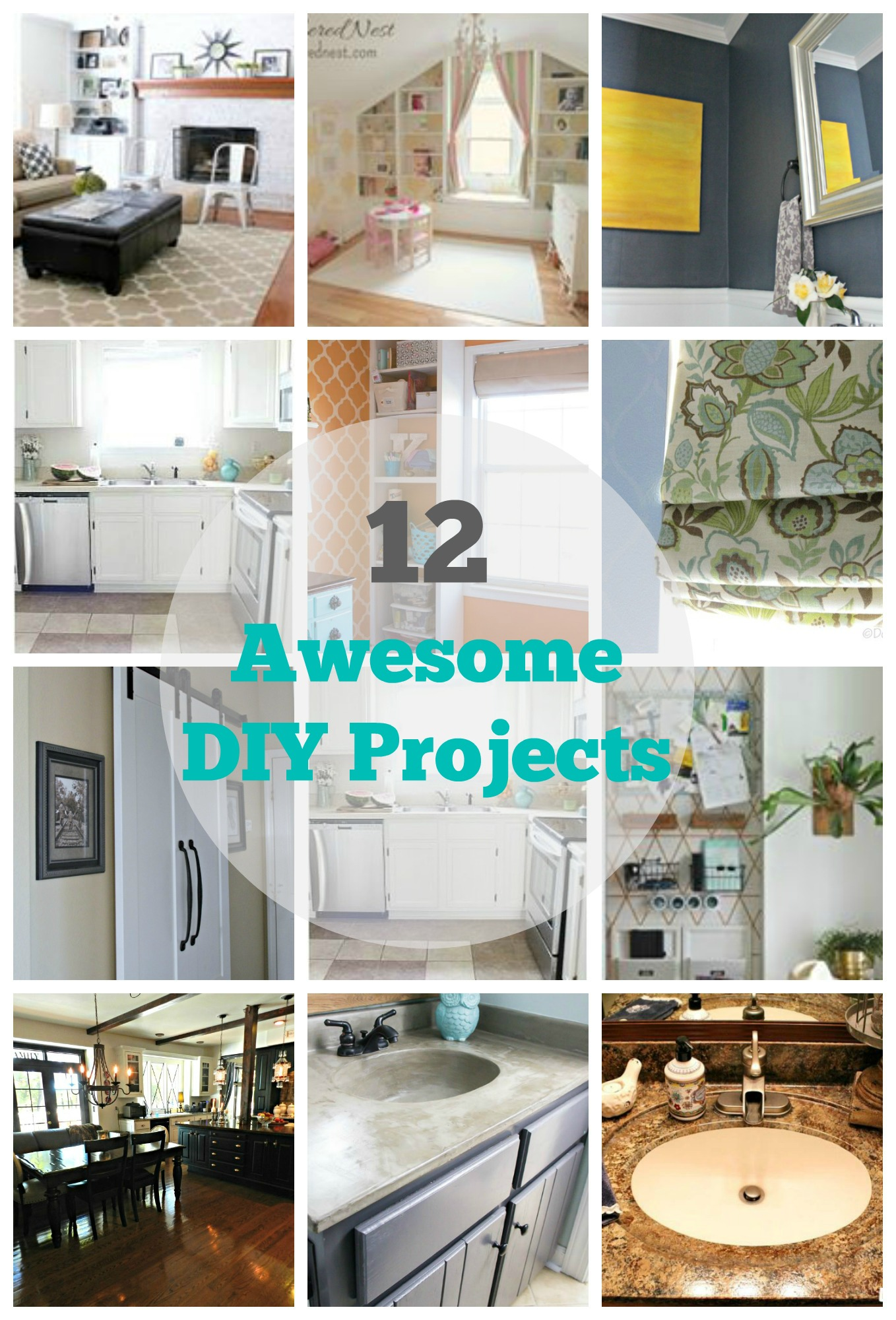 12 DIY Home Improvement Projects   My Uncommon Slice of Suburbia