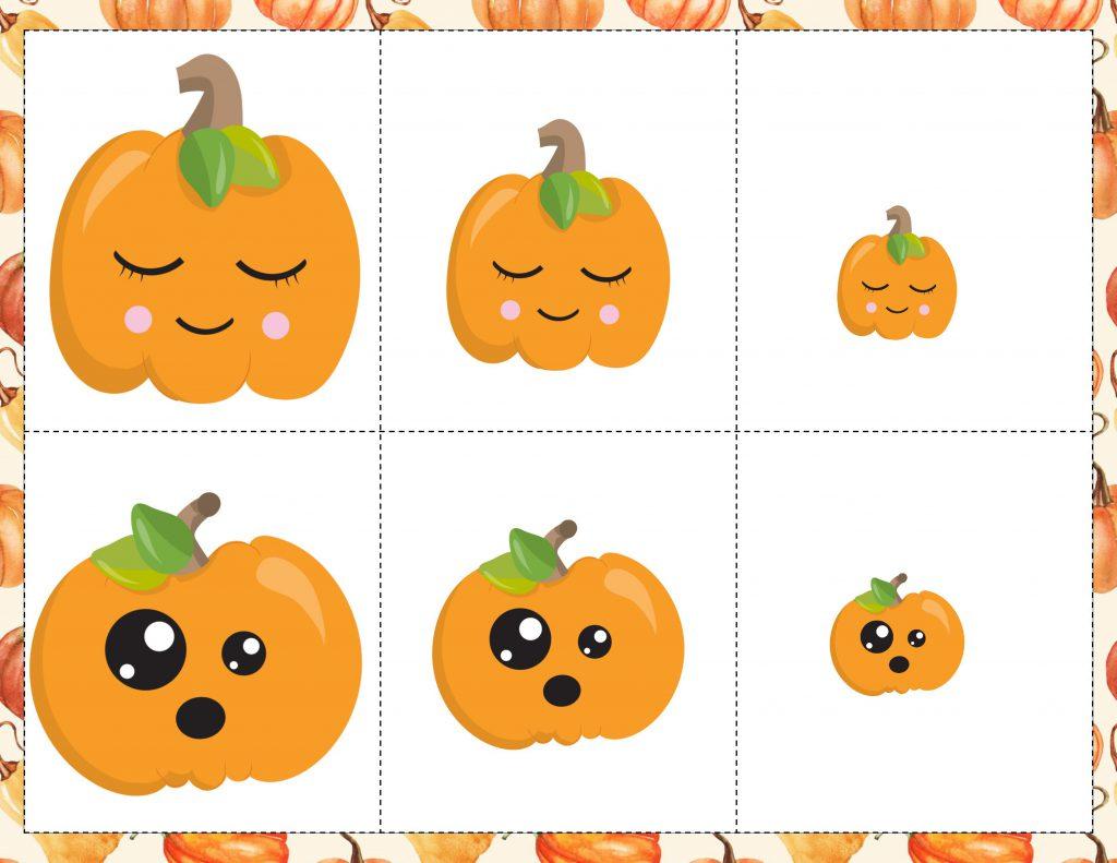 Pumpkin Sorting Game Free Printable