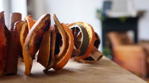 Dried orange and cinnamon DIY wreath