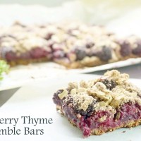 Blackberry thyme crumble bars (vegan & gf)