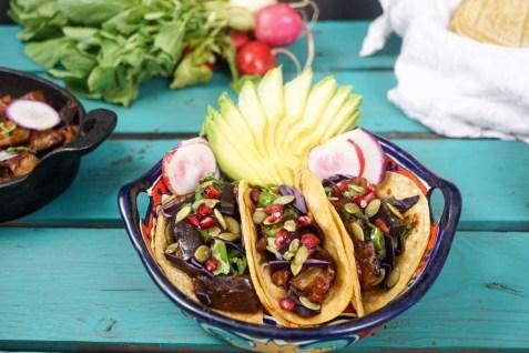 bbq eggplant rib tacos