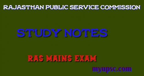 Forestry and Horticulture of Rajasthan RAS Mains Paper-I
