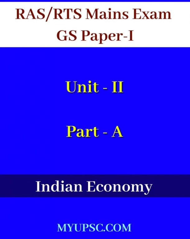 RAS-Mains-GS-Paper-1-Unit-II-Indian-Economy