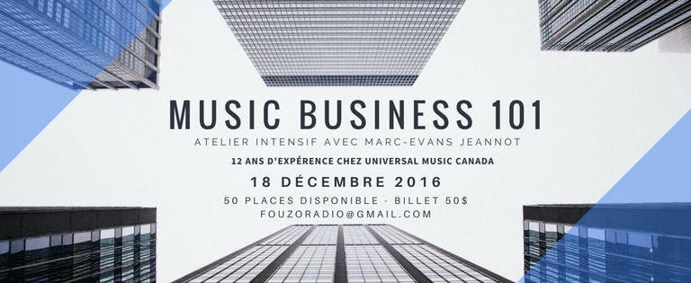 MUSIC BUSINESS 101 – ÉDITION 1