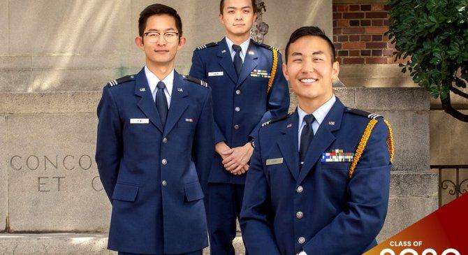 Three graduating ROTC cadets fondly recall their time as Trojans