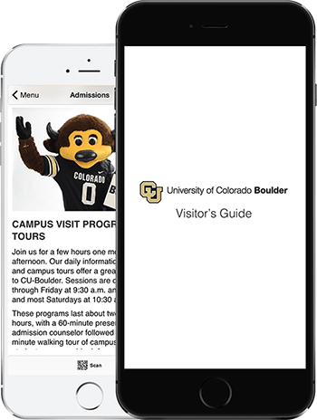 Visit CU App on 2 iPhones