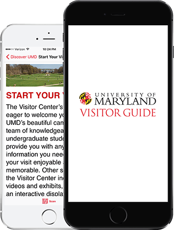 Visit UMD App on 2 iPhones