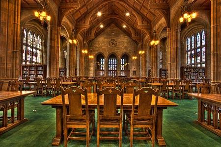 Inside Bapst Library - Boston College