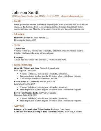 resume template 3
