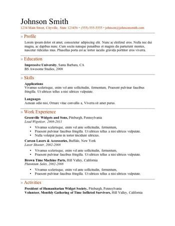 Nice Resume Template 3 Pertaining To Resume 101