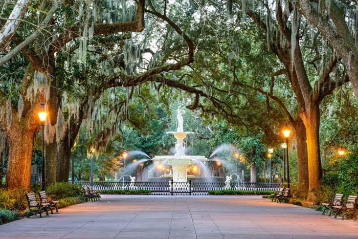 Forsythe Park in Savannah GA