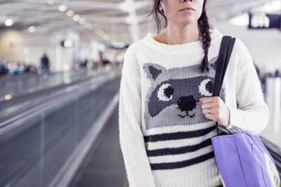girl wearing a sweater