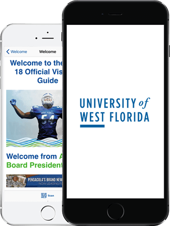 Visit UWF App on 2 iPhones