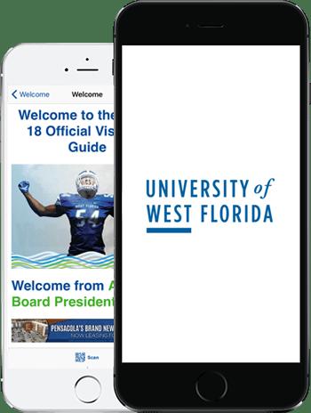 Visit UWF App on 2 iPhones