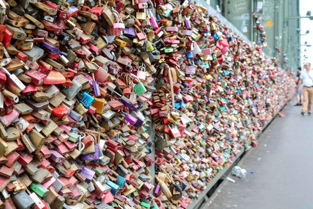 love padlocks Hohenzollern Bridge