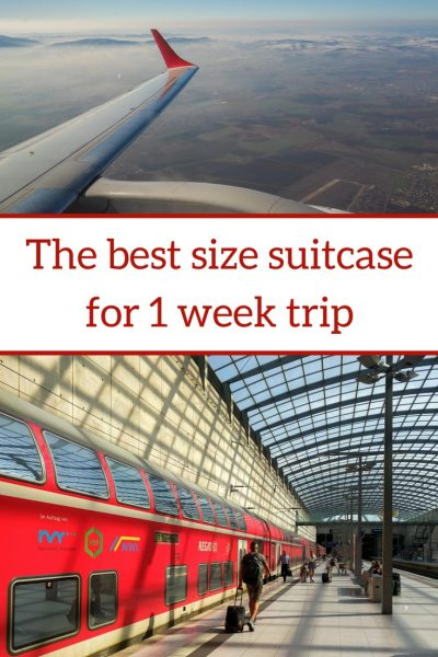 What size suitcase do I need for a week trip