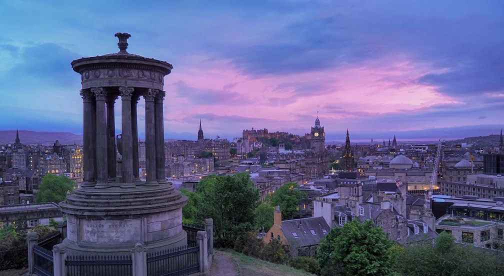 sunset at Calton Hill