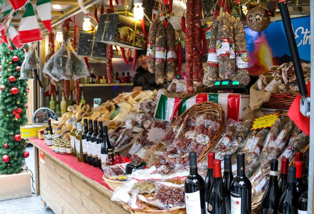 Christmas stalls food