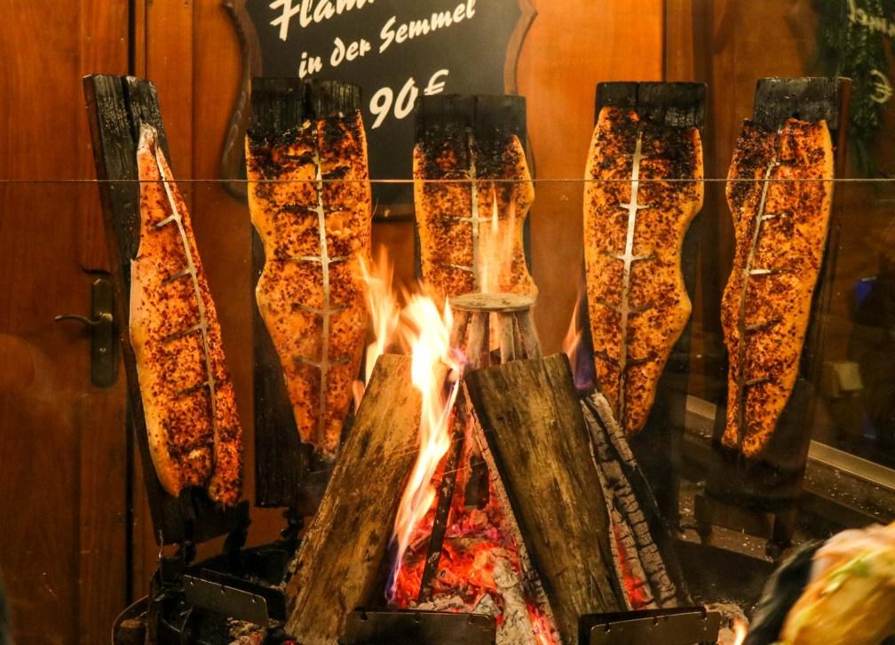 Flame roasted salmon