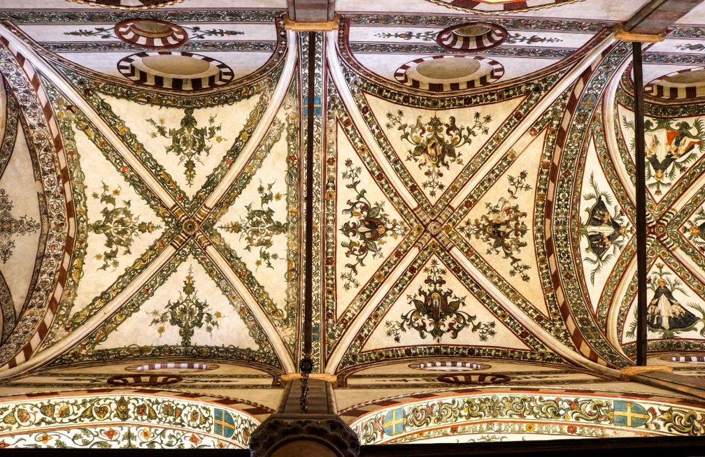 Basilica of Santa Anastasia ceiling