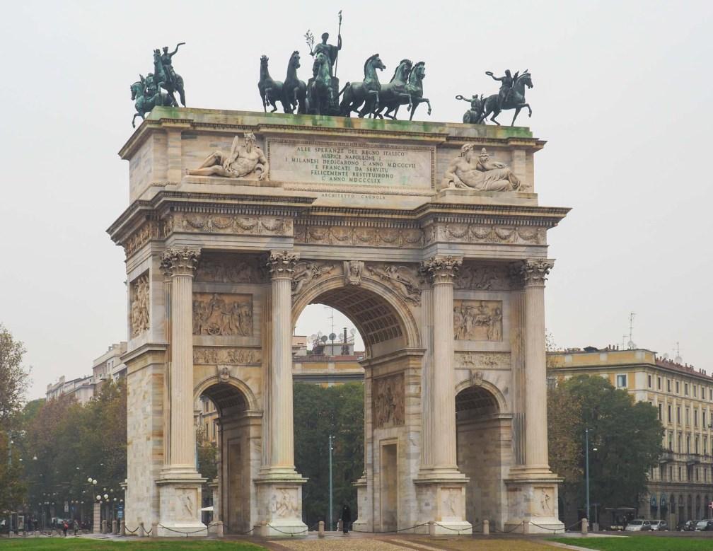 Арко делла Паче Милан за один день Как посетить Милан за один день? milan arco della pace