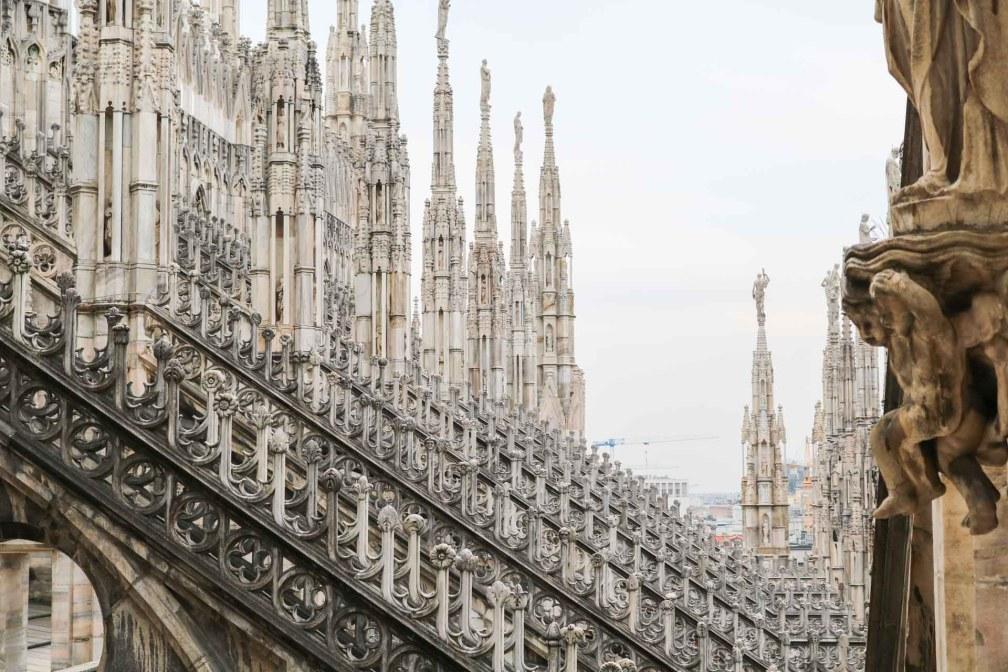 Миланский собор на крыше Милан за один день Как посетить Милан за один день? milan duomo terrace