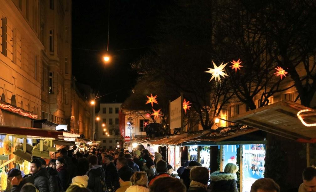 Рождественский базар Шпиттельберг рождественские рынки в Вене Лучшие рождественские рынки в Вене vienna christmas market spittelberg