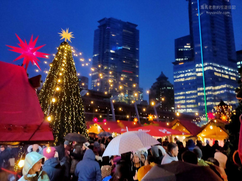 {溫哥華旅遊} 高樓邊的聖誕市集,就是要吹海風品嘗德國小吃