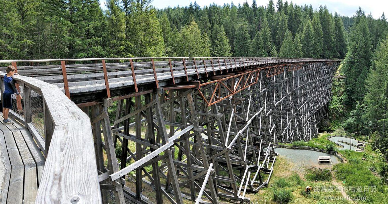 溫哥華島旅遊|鮮為人知的秘境景點,百年木造火車棧橋 Kinsol Trestle