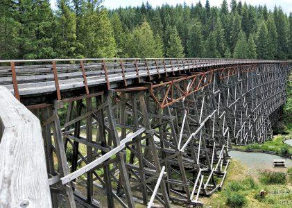 溫哥華島旅遊 鮮為人知的秘境景點,百年木造火車棧橋 Kinsol Trestle
