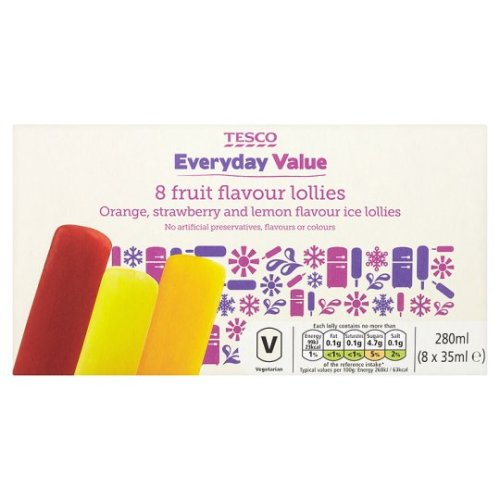 tesco value fruit ice lollies