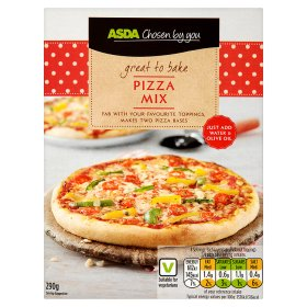 Asda Chosen By You Home Baking Pizza Base Mix My Vegan