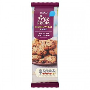 Tesco Free From Chocolate Chip Cookie Dairy Free 145G