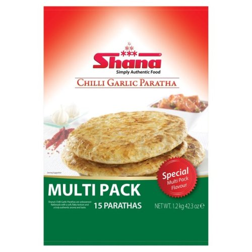 Chilli And Garlic Paratha Bread 6 per pack