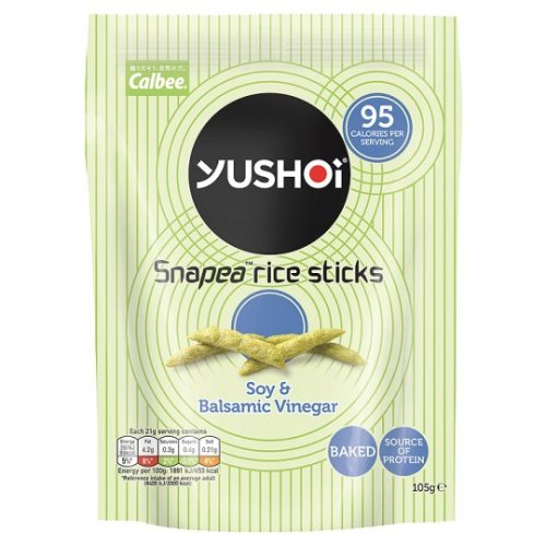 Yushoi Snapea Rice Sticks Soy Balsamic Vinegar 105G