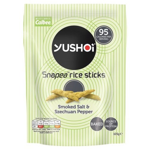 Yushoi Snapea Salt And Szechaun Pepper Rice Sticks 105G