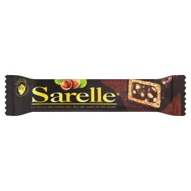 Sarelle Hazelnut and Dark Chocolate Cream Filled Wafer Covered with Dark Chocolate