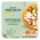 sainsburys-deliciously-freefrom-wensleydale-style-with-cranberry-dairy-free-cheese-200g