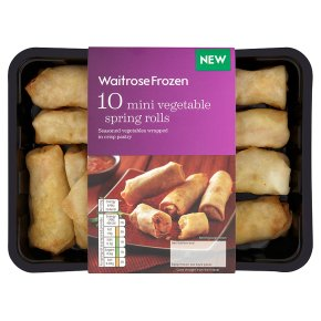 Waitrose Frozen 10 mini vegetable spring rolls 180g